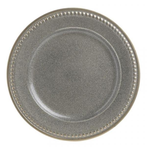 Farfurie plastic rotunda aspect metal D33X2 cm 0