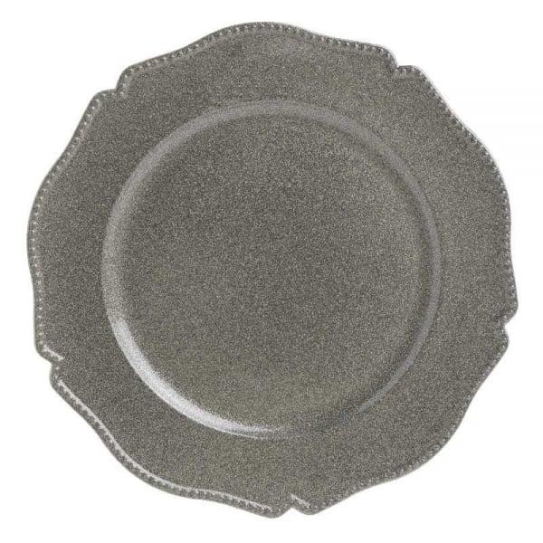 Farfurie plastic aspect metal D33X2 cm 0