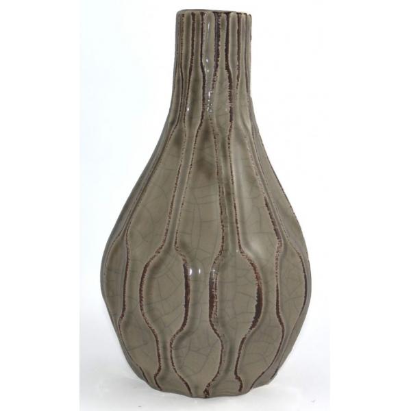 Vaza ceramica 24cm maro 0