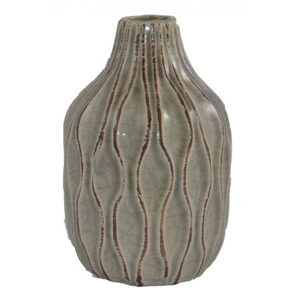 Vaza ceramica 18cm maro 0