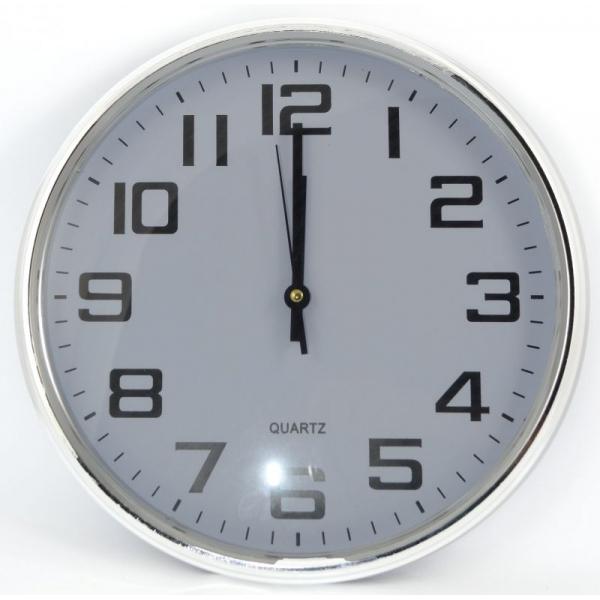 Ceas perete 35 cm rama argintie 0