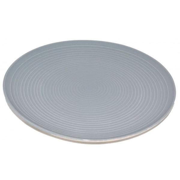 Farfurie ceramica 26cm aspect mat gri 0