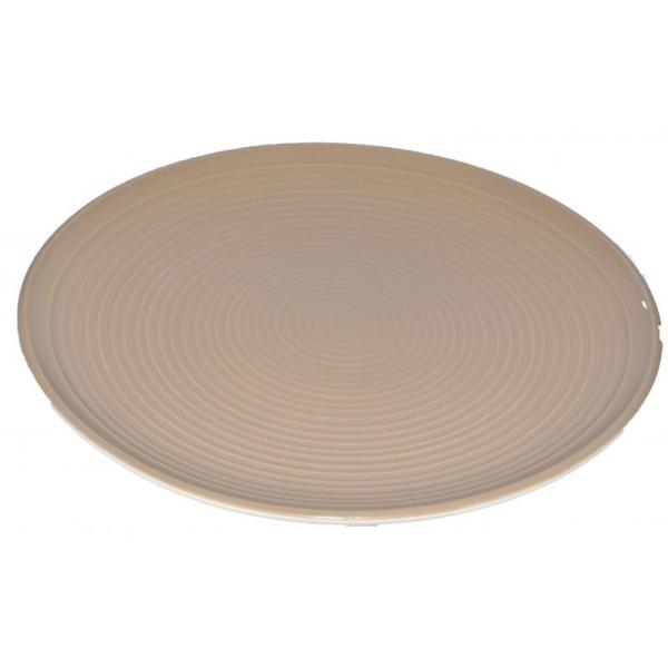 Farfurie ceramica 26cm aspect mat maro 0