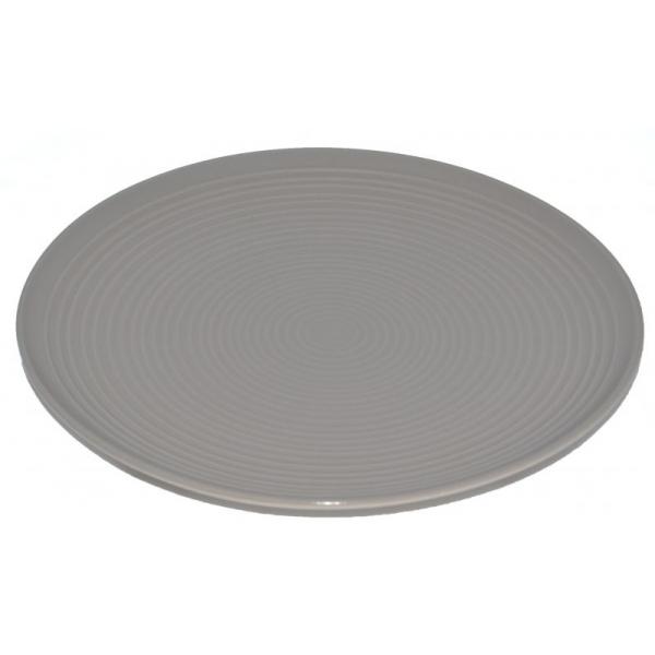 Farfurie ceramica 26cm aspect mat gri bej 0