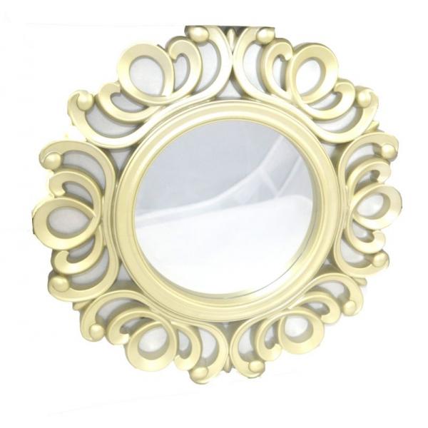 Oglinda rama plastic 25 cm  auriu 0