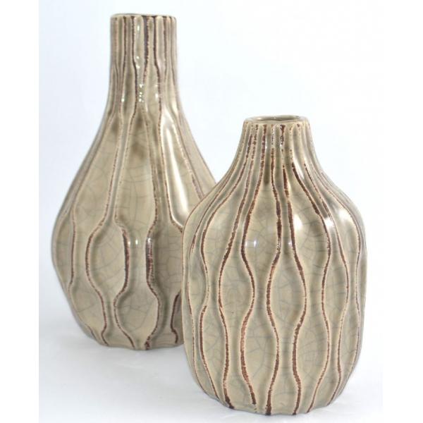 Vaza ceramica 18cm maro 1