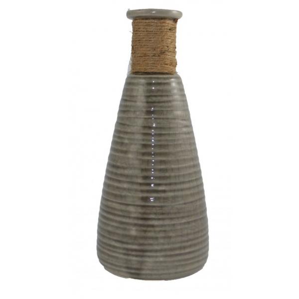 Vaza ceramica Maro, cu gatul imbracat in sfoara, 28 cm 0