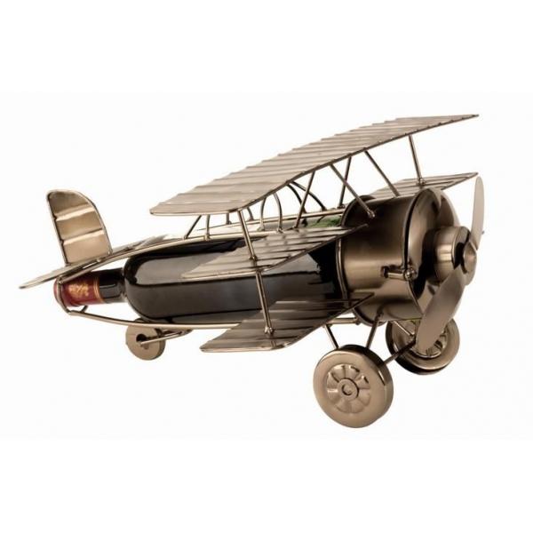Suport pentru Sticla Vin, model Avion Vintage, H20cm Latime 38 cm [0]