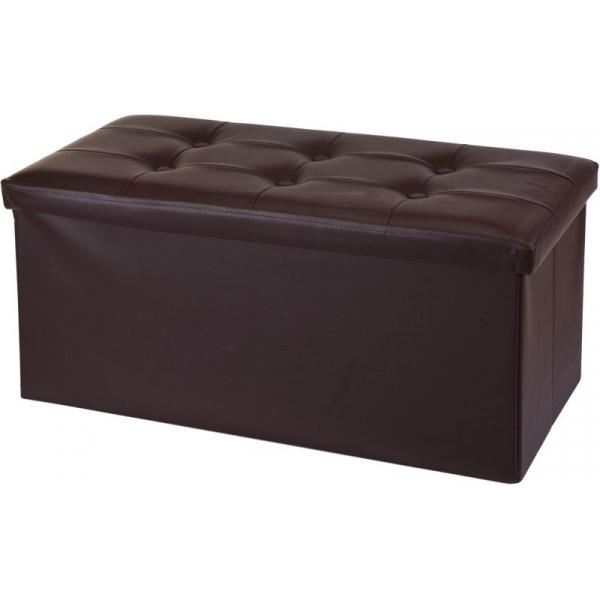 Cutie imitatie piele pentru depozitare 82X42X38 cm maro inchis 0