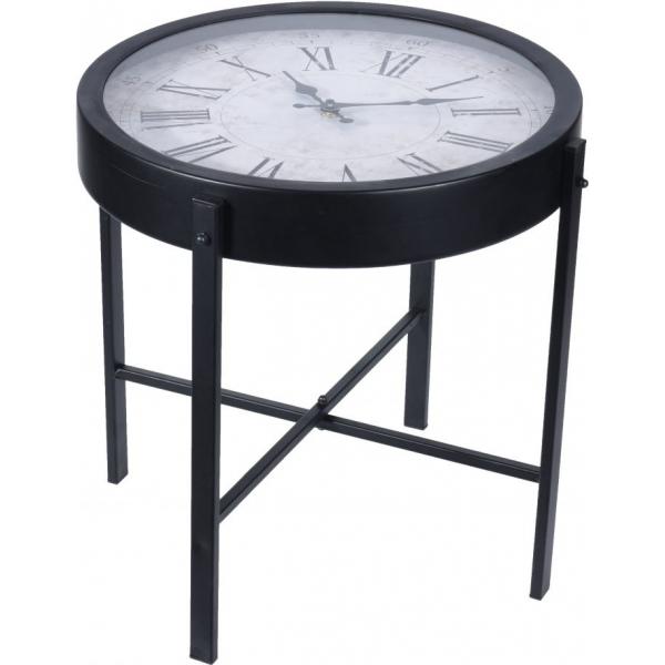 Masa rotunda din metal, pentru cafea, cu ceas, 40x40x40cm 0