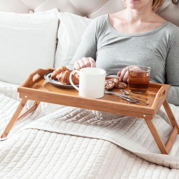 Masa servire in pat, din Banbus, cu picioare pliabile, Nago, 50 x 30 x 21 cm [8]