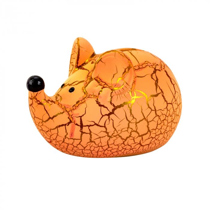 Pusculita din ceramica, model Soricel, culoare Portocalie, 8x11.5 cm [0]