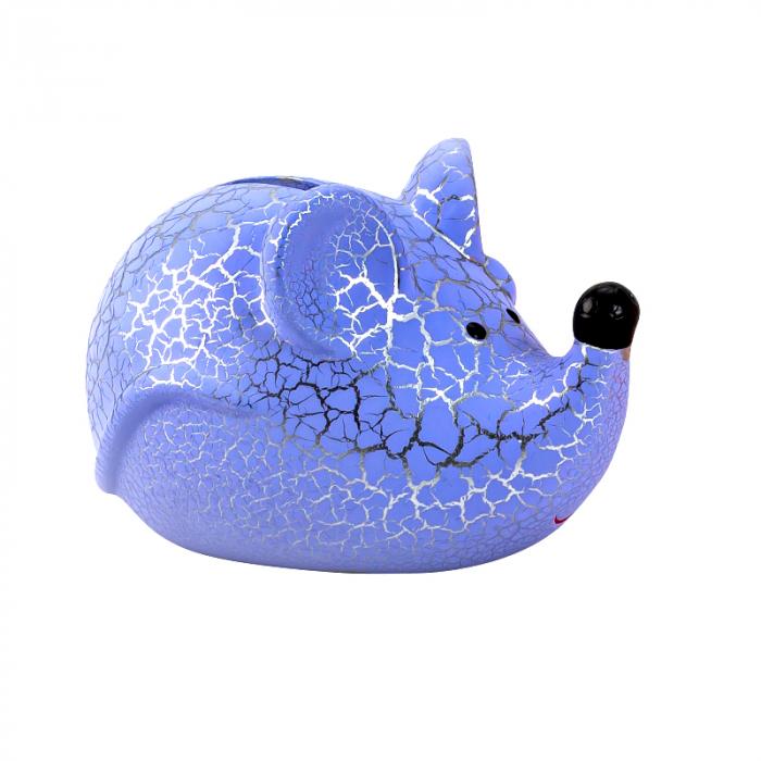 Pusculita Soricel, din ceramica, culoare Albastra, 8x11.5 cm [0]