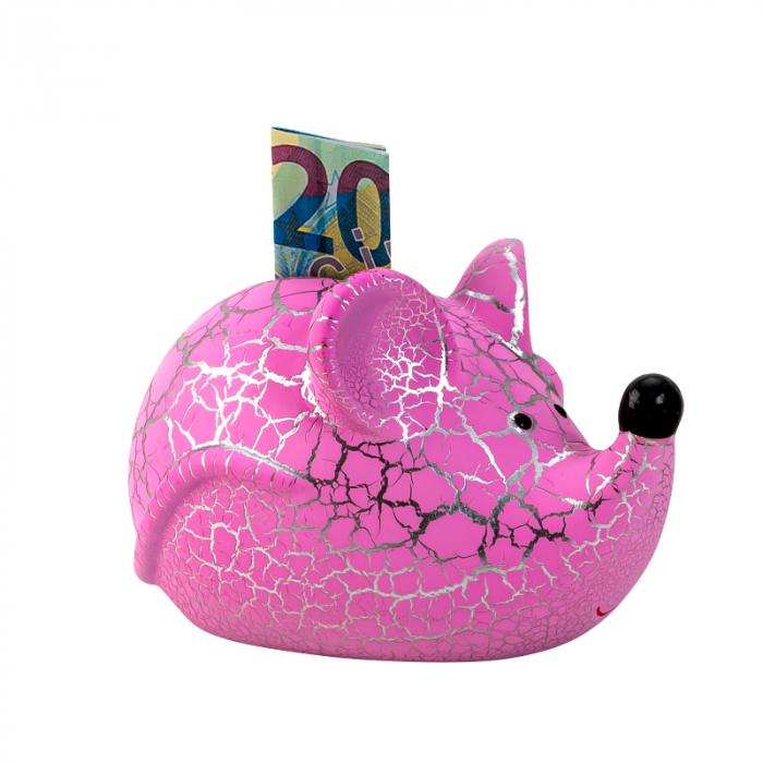 Pusculita Soricel, din ceramica, Roz, 8x11.5 cm 0
