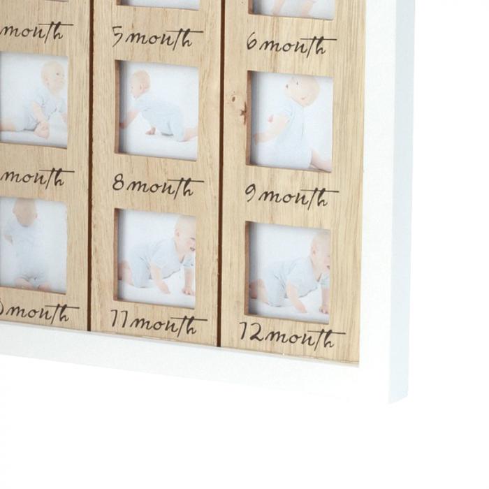 Rama foto lemn pentru 12 poze dimensiune 25x40.5 cm 6