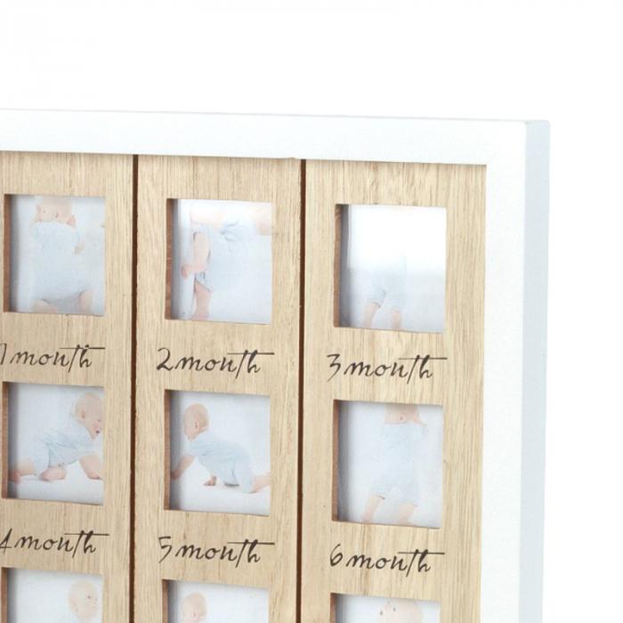 Rama foto lemn pentru 12 poze dimensiune 25x40.5 cm 5