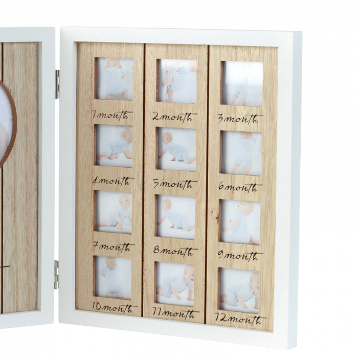 Rama foto lemn pentru 12 poze dimensiune 25x40.5 cm 2