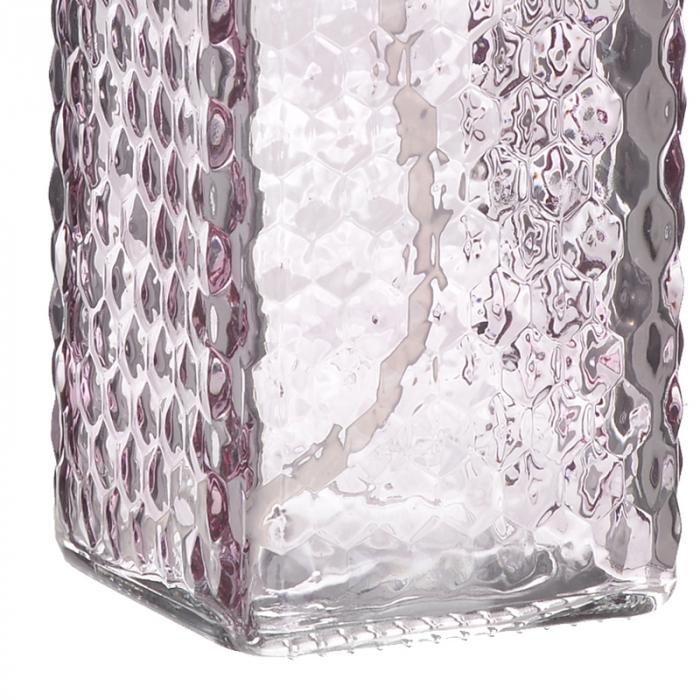 Recipient pentru sapun din sticla roz model buline , inaltime 18 cm diametru 7,5 cm 3