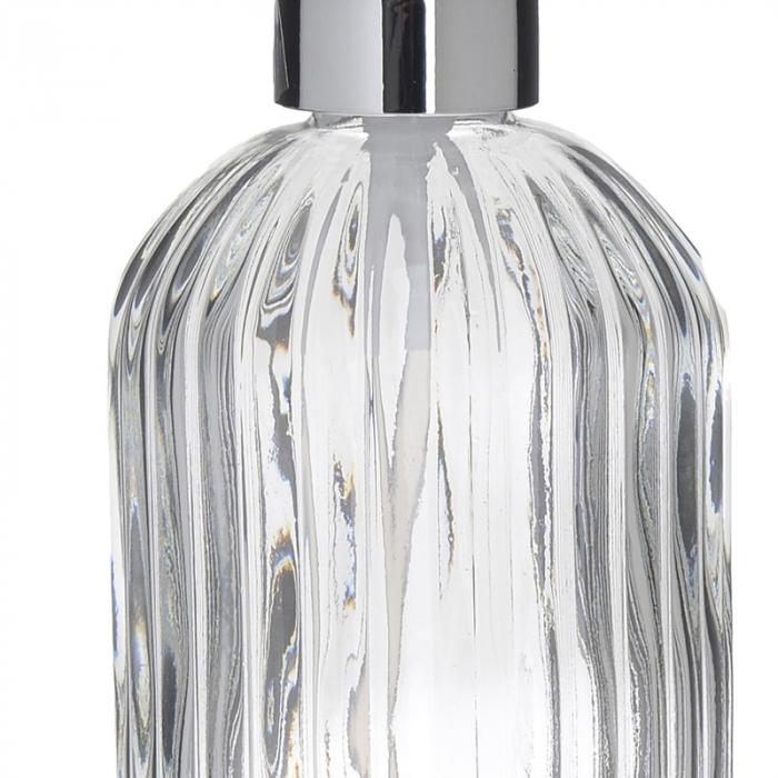 Recipient pentru sapun din sticla transparenta model dungi, inaltime 18 cm diametru 7,5 cm 2