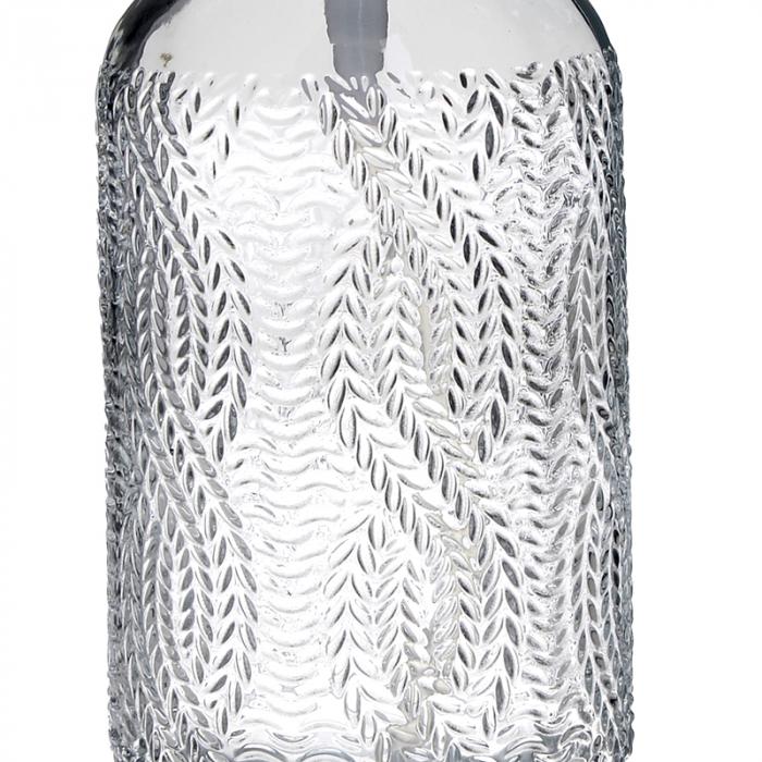 Recipient pentru sapun din sticla transparenta model impletitura, inaltime 18 cm diametru 7,5 cm 3