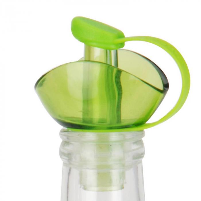 Recipient pentru ulei sau otet 500 ml capac verde 2