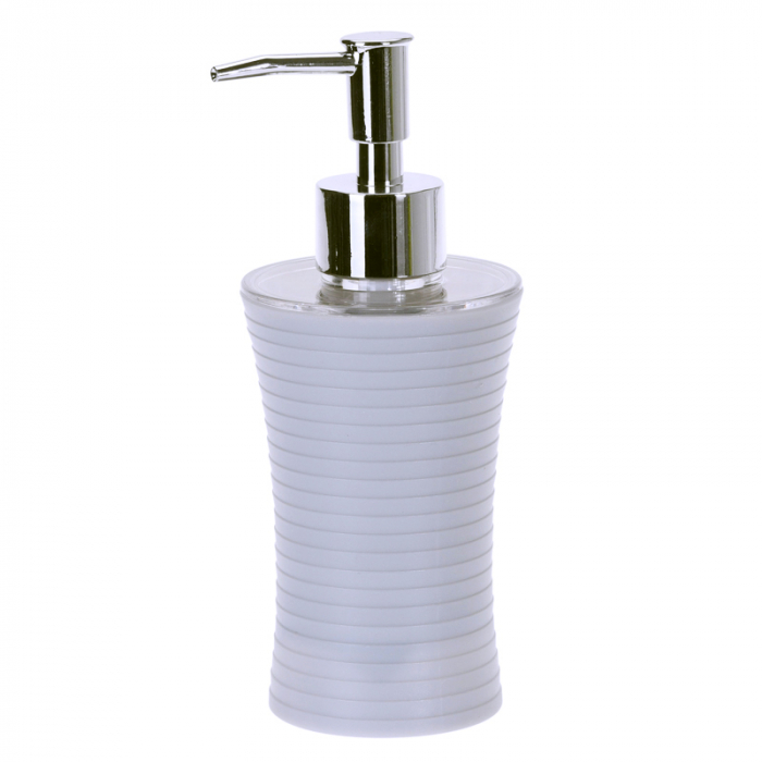 Recipient sapun lichid, culoare alba, Dim 18x7cm polistiren G 86g 0