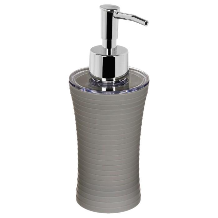 Recipient sapun lichid, culoare gri deschis, Dim 18x7cm polistiren G86 g [0]