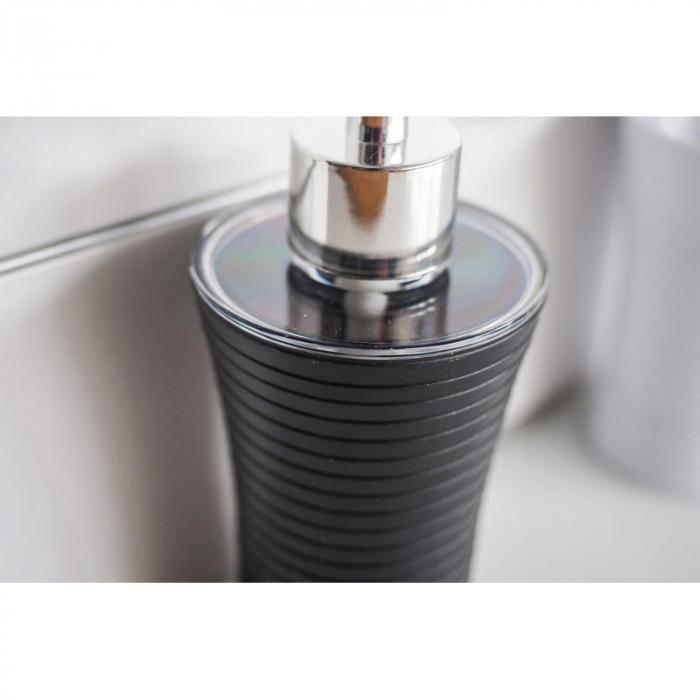 Recipient sapun lichid, culoare neagra, Dim 18x7cm polistiren G86 g 1