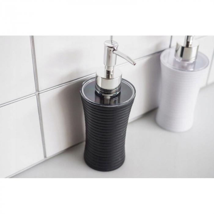 Recipient sapun lichid, culoare neagra, Dim 18x7cm polistiren G86 g [3]