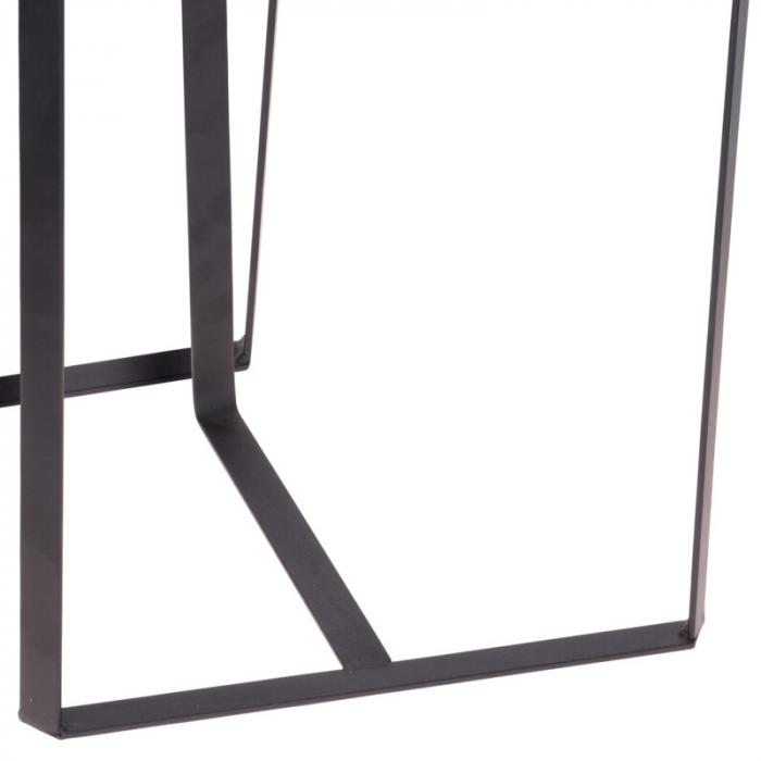 Set 2 mese metal culoarea gri inchis,blat sticla securizata ,dimensiuni 40x44 cm si 45x50cm 4