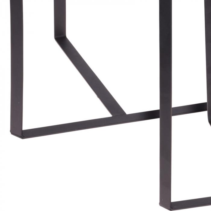 Set 2 mese metal culoarea gri inchis,blat sticla securizata ,dimensiuni 40x44 cm si 45x50cm 5