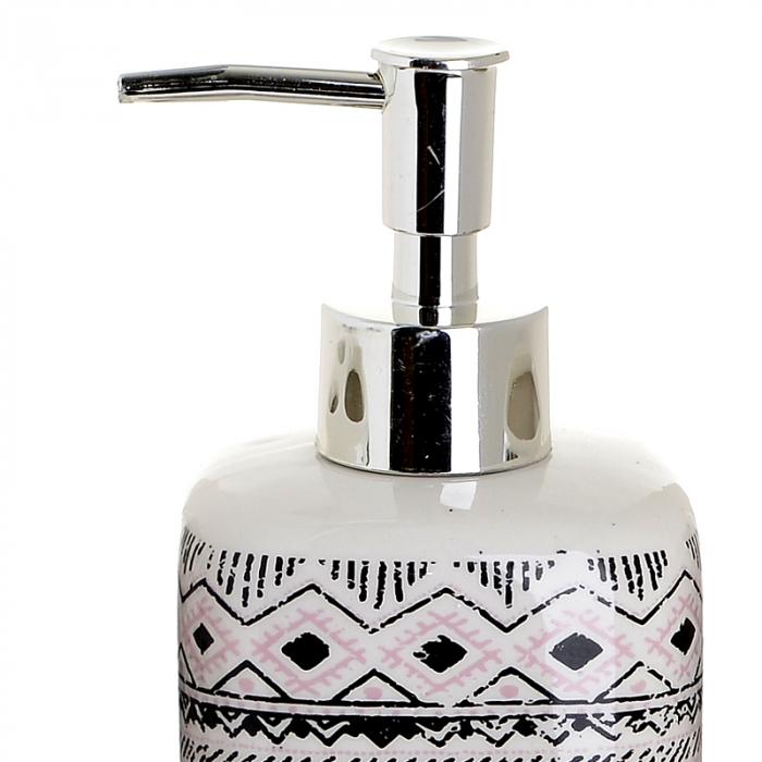Set 4 piese pentru baie din ceramica cu model negru cu gri  25,5Χ21,5Χ8 cm 1