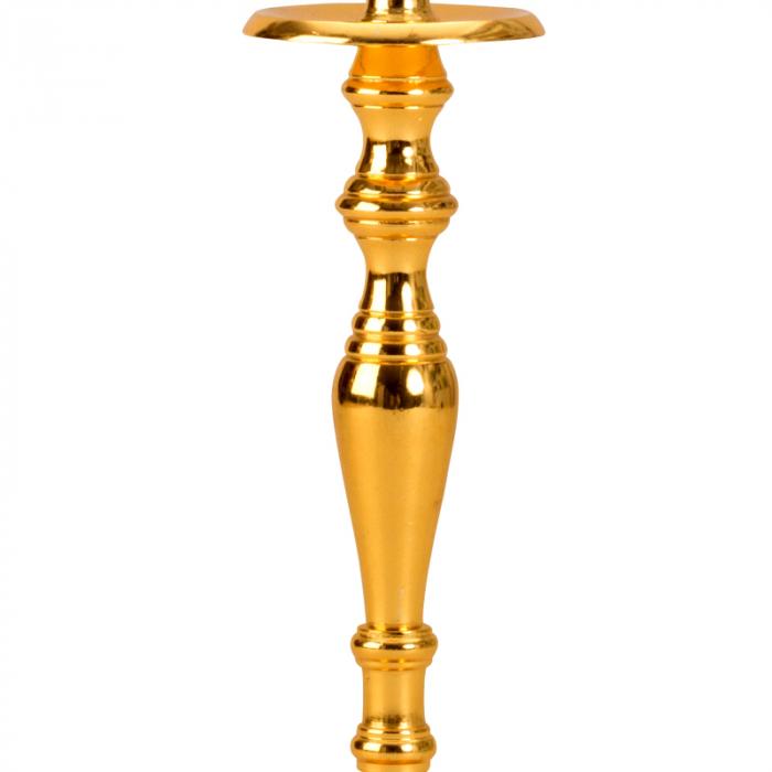 Sfesnic Mic Auriu, cu 1 brat, din metal, placat cu Aur, 23 cm 4