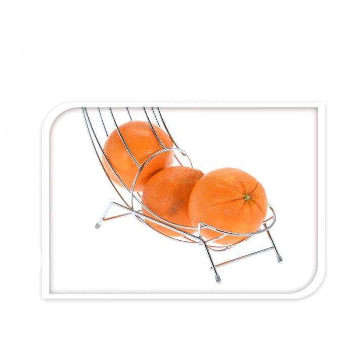 Cos din melat cromat, pentru organizarea Portocalelor, 44cm x 31cm x 11 cm 2