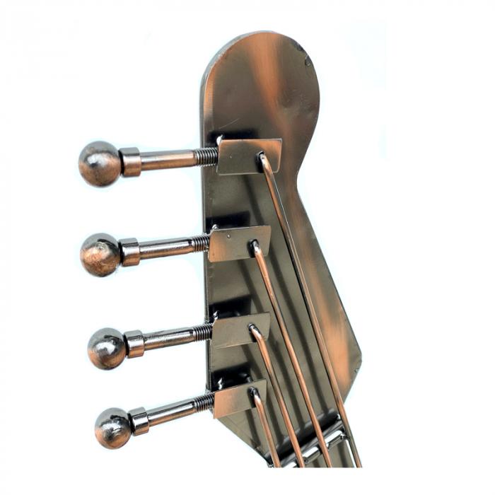 Suport din metal pentru 6 sticle de vin, forma chitara, dimensiune 107 cm [4]