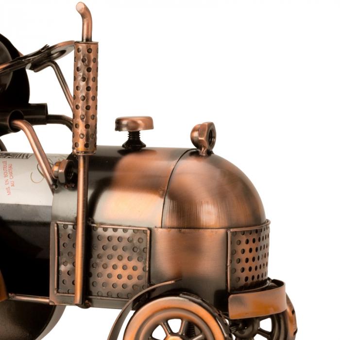 Suport din Metal pentru Sticla de Vin, model Tractor, H 27 cm 1
