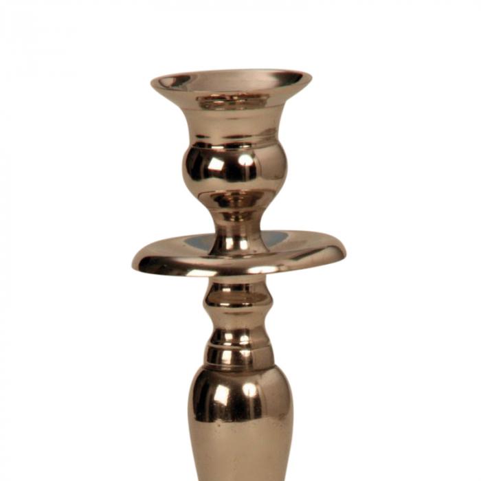 Suport lumanare din metal 23 cm argintiu [2]