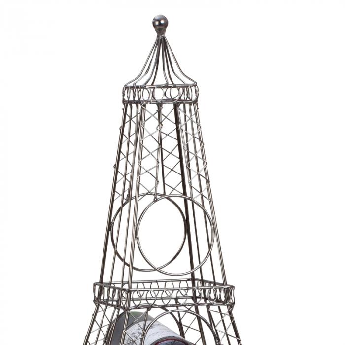 Suport din metal, pentru 6 Sticle Vin, model Turnul Eiffel, 72,5 cm 2