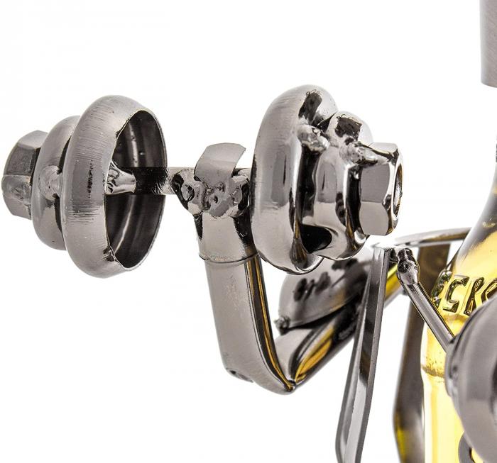 Suport metal pentru sticla bere bodybuilder H 26 cm 4