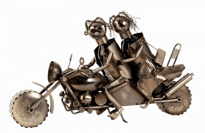 Suport metal pentru Sticla Vin, cuplu pe Motor, 38x63 cm 0