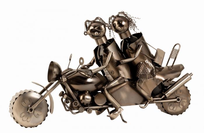 Suport metal pentru Sticla Vin, cuplu pe Motor, 38x63 cm 1
