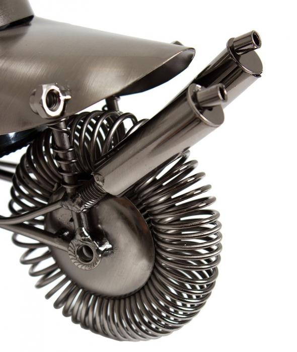 Suport metal pentru sticla vin, model motociclist, 36x 47 cm 4
