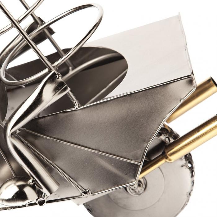 Suport metal pentru sticla vin motociclist H 35 cm 5
