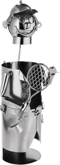 Suport metal pentru sticla vin tenismen H32 cm [6]