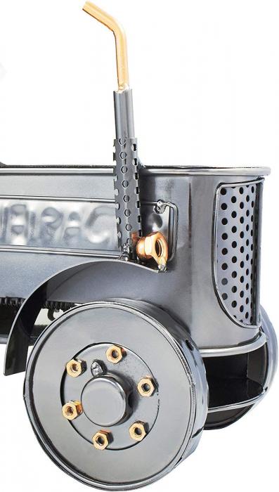 Suport metal pentru sticla vin, tractorist cu catel pe tractor 35,5x34 cm [5]