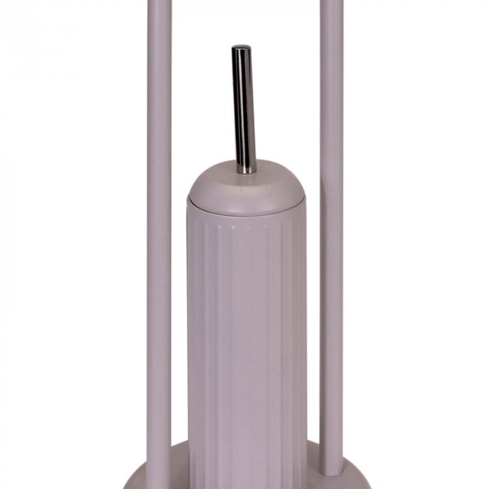 Suport metalic perie WC si hartie igienica, diametru 20cm x 80 cm, 2.3 kg, culoare Bej [2]