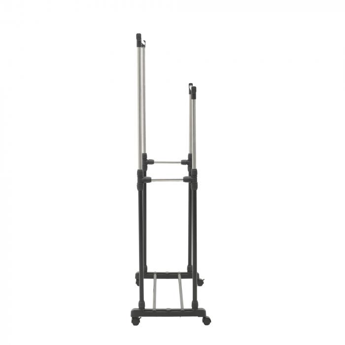 Suport metal si plastic pentru haine culoare negru 80Χ41Χ93/155 cm 3