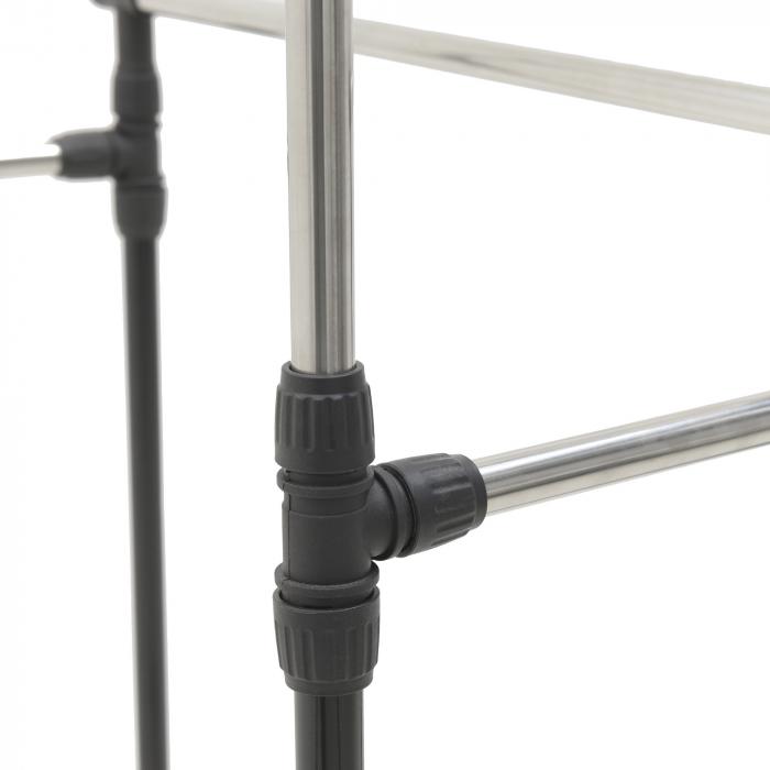 Suport metal si plastic pentru haine culoare negru 80Χ41Χ93/155 cm 5