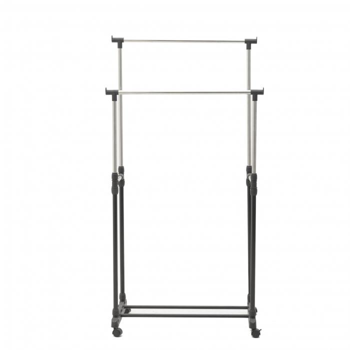 Suport metal si plastic pentru haine culoare negru 80Χ41Χ93/155 cm 2