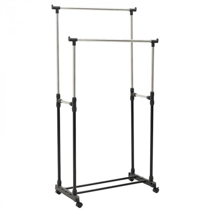 Suport metal si plastic pentru haine culoare negru 80Χ41Χ93/155 cm 0